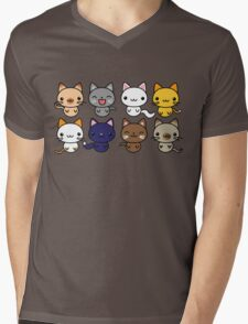 Cute Kitty Cats Mens V-Neck T-Shirt