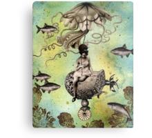 Undersea Steampunk: Aurelia & her Jelly Cruiser Metal Print