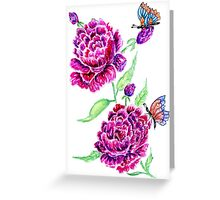 Flowers and Butterfly 2 Greeting Card