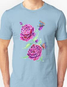 Flowers and Butterfly 2 Unisex T-Shirt