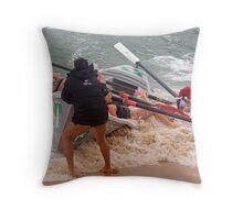 Detail from Shore break wins Throw Pillow