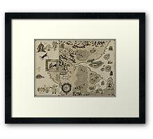 Old Worldly Map Framed Print