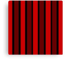 Beautiful Cushions/ Stripe Red Black Canvas Print
