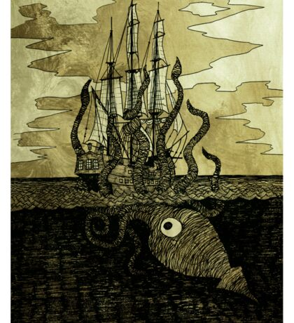 Kraken Hug Sticker