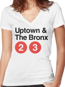 Uptown & The Bronx Women's Fitted V-Neck T-Shirt