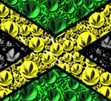 Jamaican Cannabis Flag  Sticker