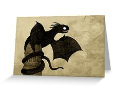 Watchtower Dragon Greeting Card
