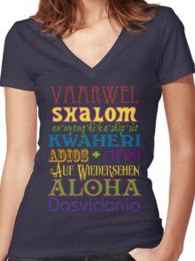 International Greetings! Women's Fitted V-Neck T-Shirt