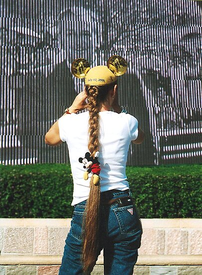 True Believer Girl Disney Fan Walt Disney Land California's 50th. Anniversary 2005 by Rick Short
