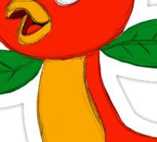 Little Orange Bird Sticker
