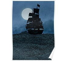 Sailing Under The Moon Poster