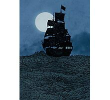 Sailing Under The Moon Photographic Print