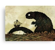 Leviathan & Ship Canvas Print