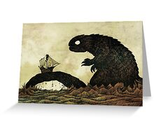 Leviathan & Ship Greeting Card