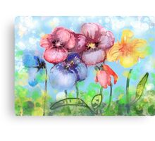 Pansies Flowers fantasy Canvas Print