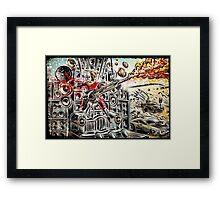 Doof Warrior, Mad Max, Art, Guitar Player, guitar, flame guitar, flame, fury road, joe badon Framed Print