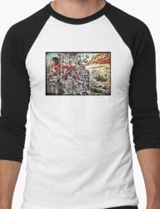 Doof Warrior, Mad Max, Art, Guitar Player, guitar, flame guitar, flame, fury road, joe badon Men's Baseball ¾ T-Shirt