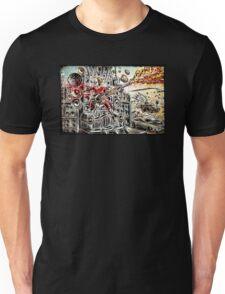 Doof Warrior, Mad Max, Art, Guitar Player, guitar, flame guitar, flame, fury road, joe badon Unisex T-Shirt