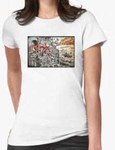 Doof Warrior, Mad Max, Art, Guitar Player, guitar, flame guitar, flame, fury road, joe badon Womens Fitted T-Shirt