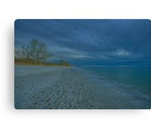 Delnor-Wiggins Pass State Park Beach at Sunset - HDR Image Canvas Print