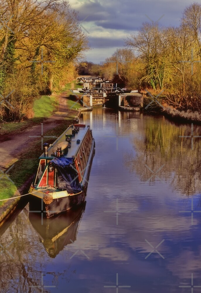 Stockton Locks in February by Avril Harris
