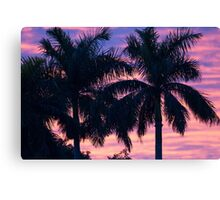 Palm Trees and Sunset Canvas Print