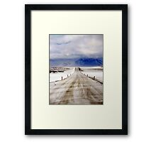 Icelandic Open Road Framed Print
