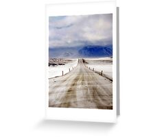 Icelandic Open Road Greeting Card