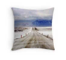 Icelandic Open Road Throw Pillow