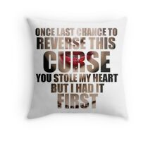Reverse This Curse Throw Pillow