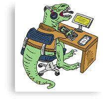 Office T-Rex Canvas Print