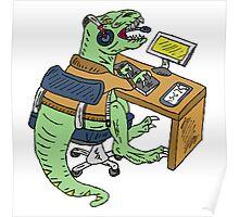 Office T-Rex Poster