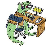 Office T-Rex Photographic Print