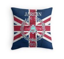 shabby chic UK fashion union jack vintage bee Throw Pillow