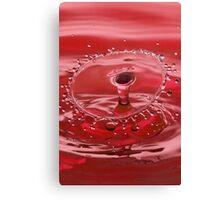 Red Water Splash Canvas Print