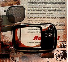 cool geeky tech Retro Vintage TV television Nostalgia by lfang77