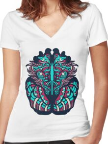 Victorian Lion Women's Fitted V-Neck T-Shirt