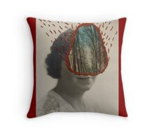 Forest Woman Throw Pillow