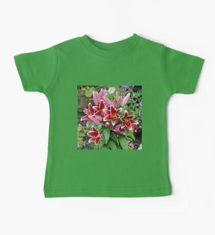 Red Wet Lilies Baby Tee