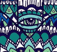 Hamsa Hand: Blue/Green Sticker