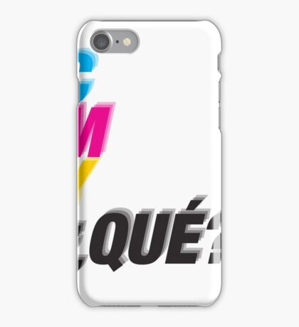 C M Y ¿QUÉ? iPhone Case/Skin