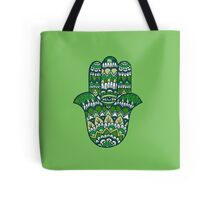 Hamsa Hand: Green Tote Bag