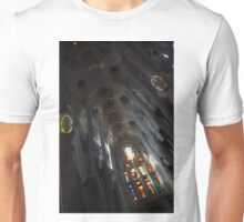 The Fascinating Interior of Sagrada Família - Antoni Gaudi's Masterpiece Unisex T-Shirt