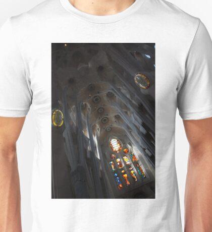 The Fascinating Interior of Sagrada Família - Antoni Gaudi's Masterpiece Unisex T-Shirt