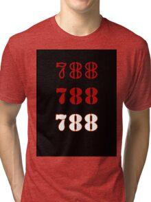 H.I.S.S. Numbers sticker alternative Tri-blend T-Shirt