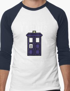 """A book is like a Tardis, it's bigger on the inside"" Men's Baseball ¾ T-Shirt"