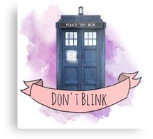 "TARDIS ""don't blink"" Metal Print"