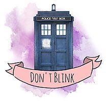 "TARDIS ""don't blink"" Photographic Print"
