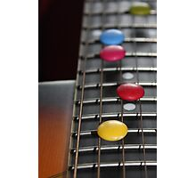 Smarties on Guitar Strings Photographic Print