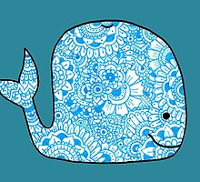 Whale: Blue by MRLdesigns